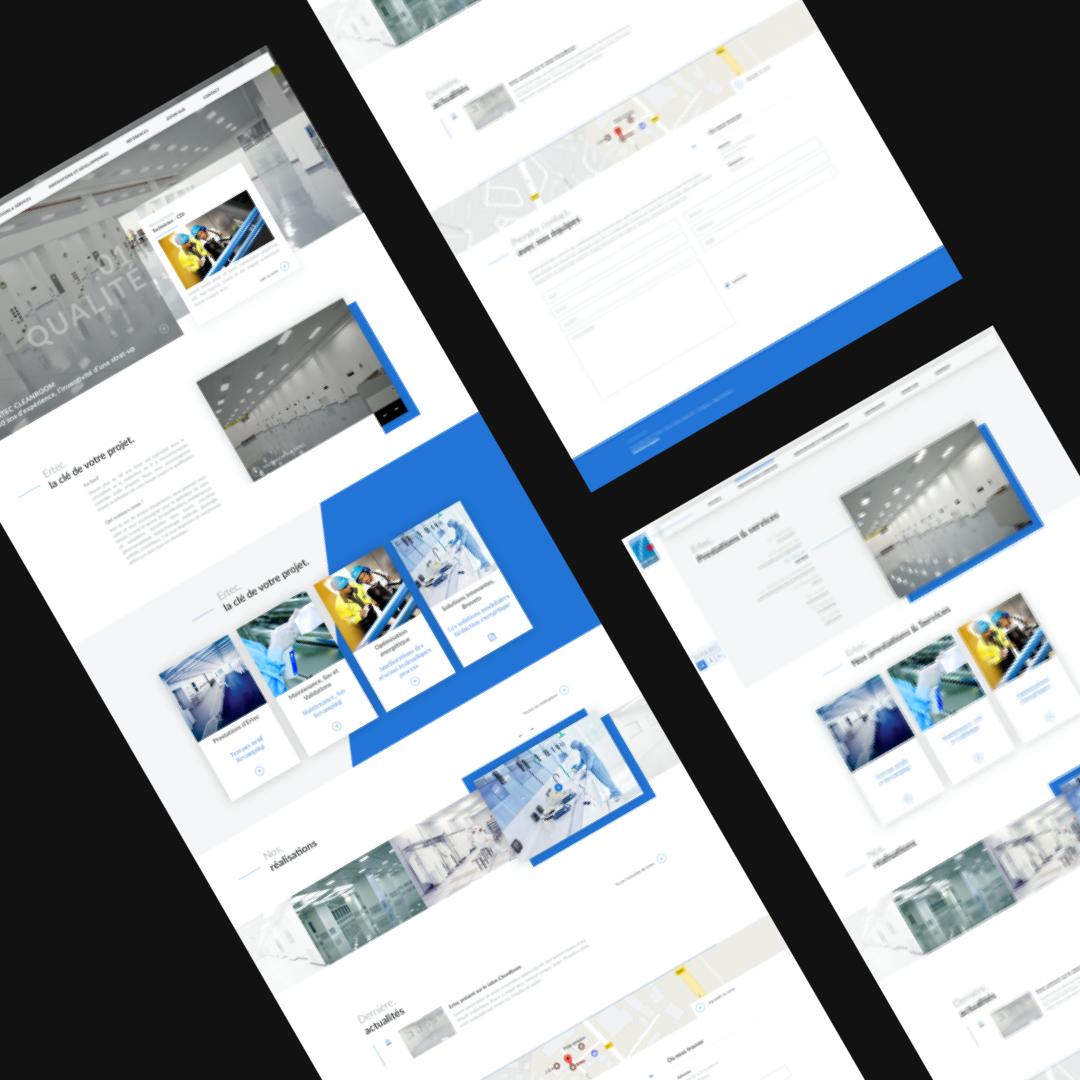 Ertec Cleanroom – Site vitrine // Service