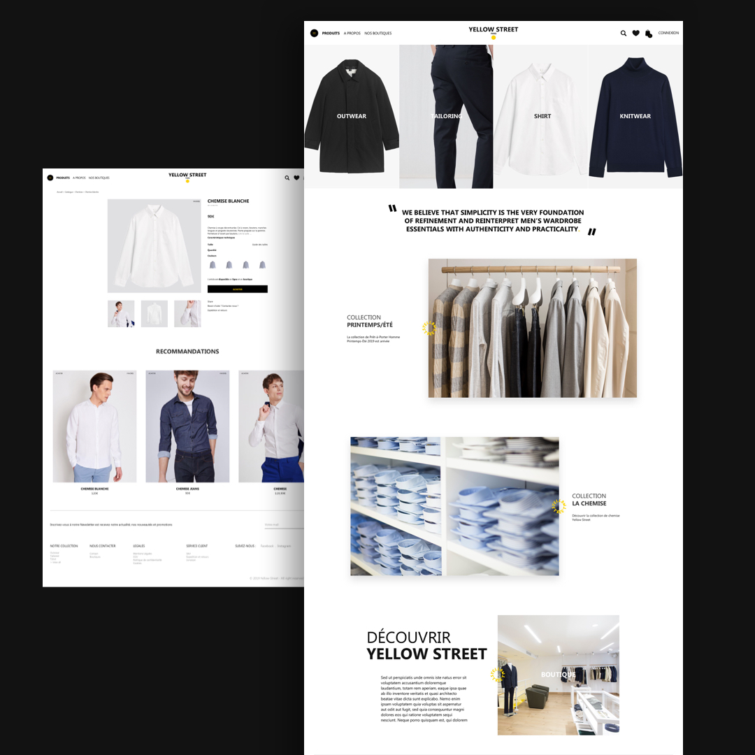Yellow street – Site E-commerce // Mode