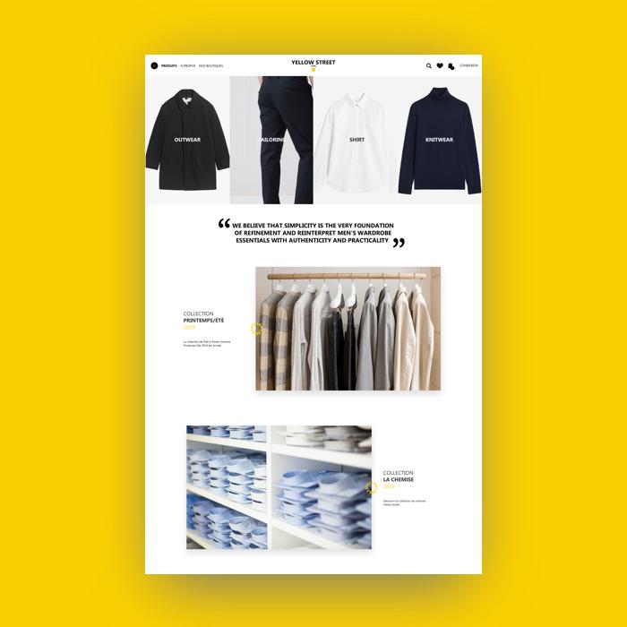 Yellow street – Site E-commerce // Mode